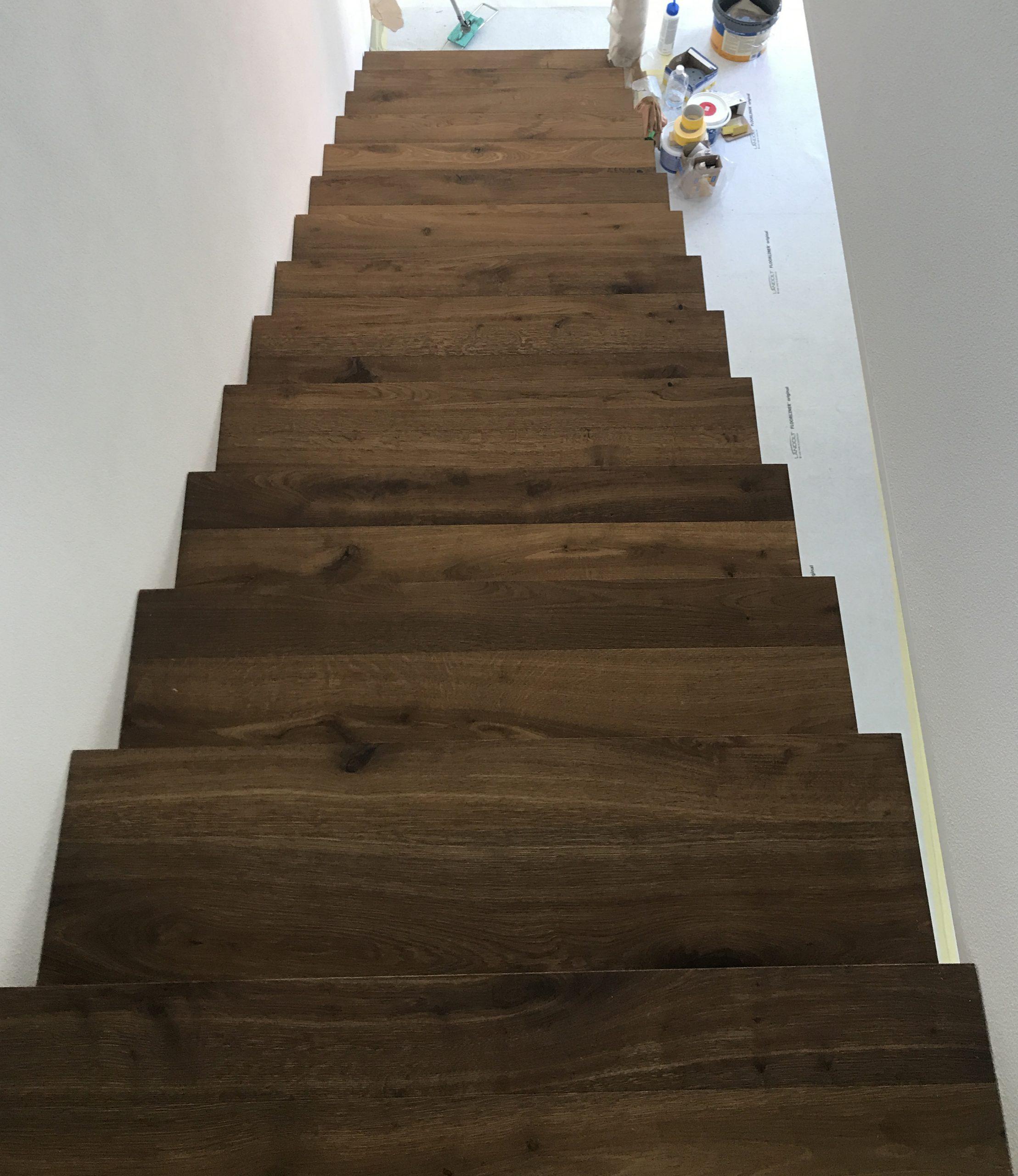 Barmetboden | Parkett Räuchereiche auf Treppe